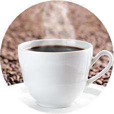 김이 나는 커피