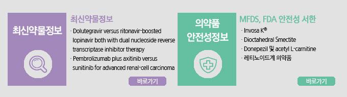 최신약물정보/의약품안전성정보