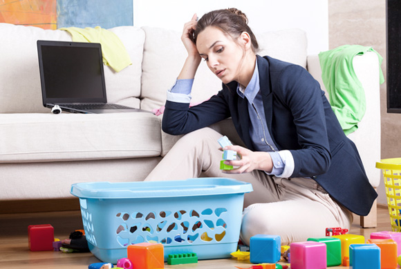 How to minimize the stress of working moms?